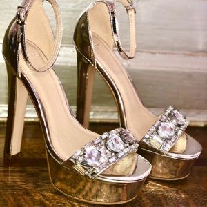 Metallic Silver Shoes by ASOS PERFECT CONDITION